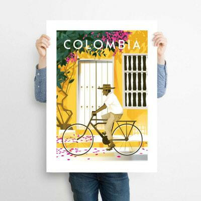 affiche illustration colombia décoration