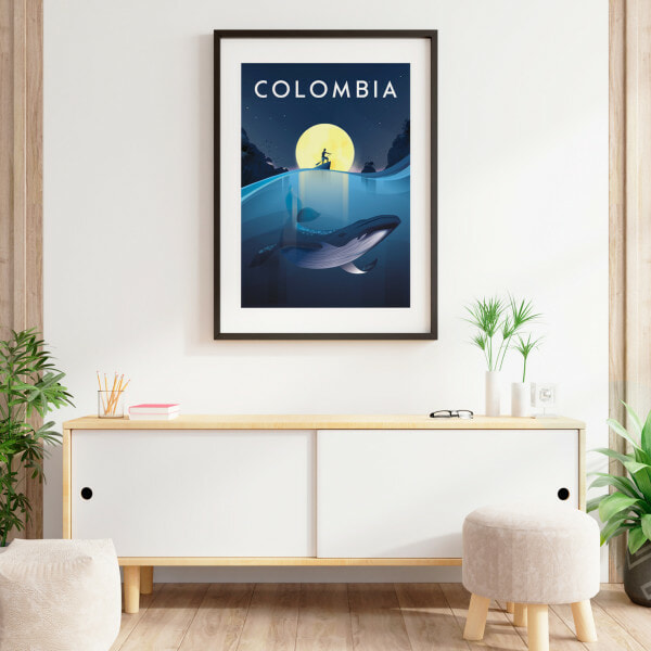 Colombia affiche pacifico decoration